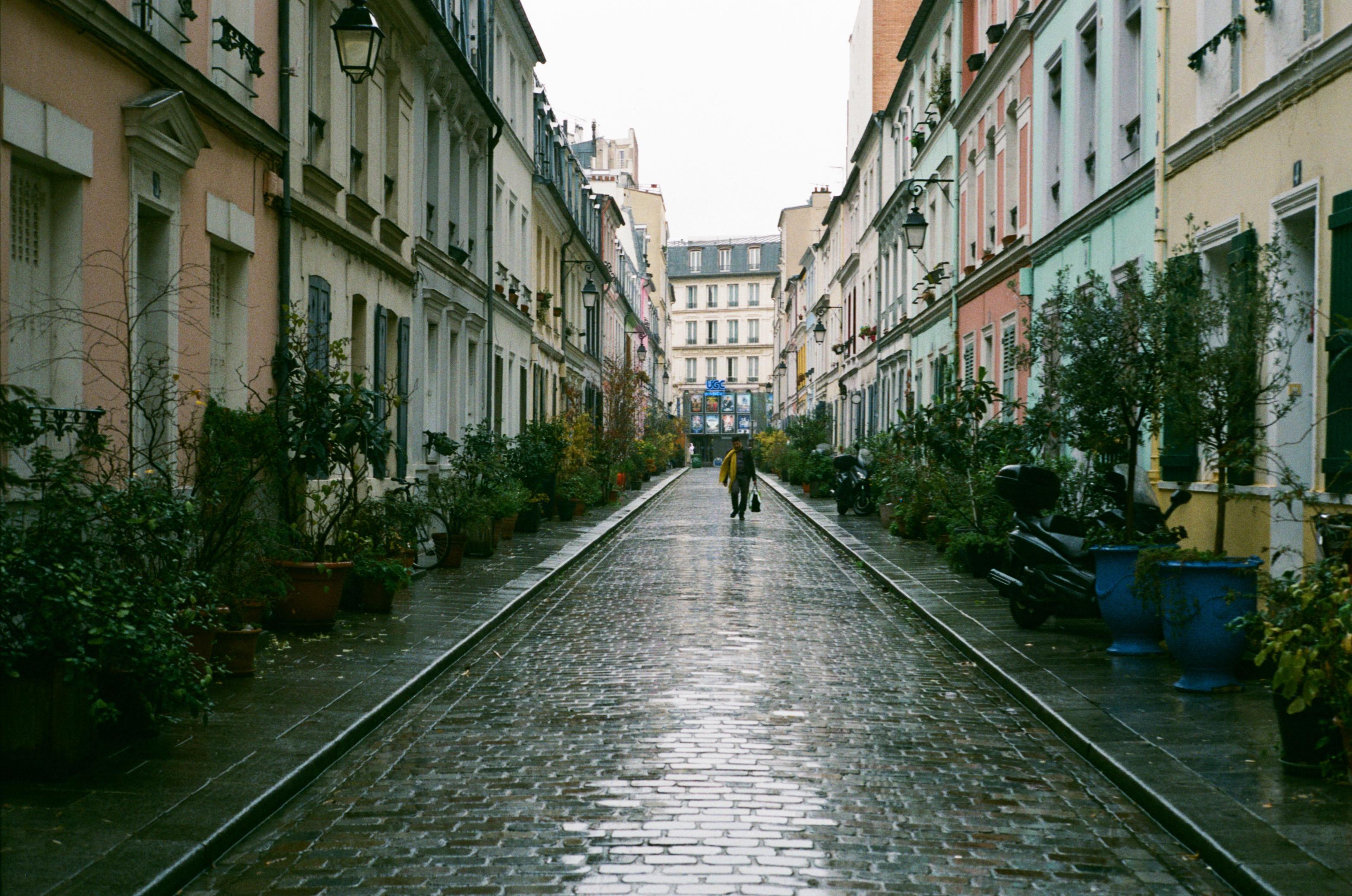 Residential street in Paris